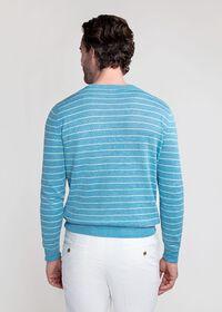 Linen and Silk Striped Crewneck Sweater, thumbnail 3