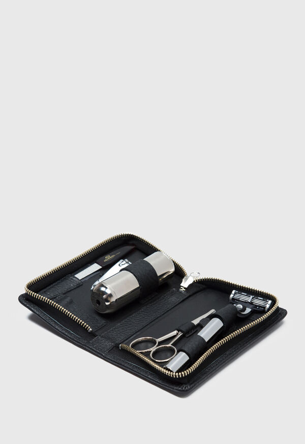 Deerskin Leather Travel Shaving Kit, image 2