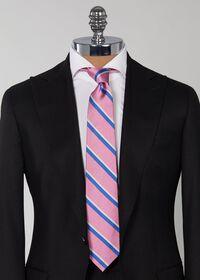 Silk Regimental Stripe Skinny Tie, thumbnail 2