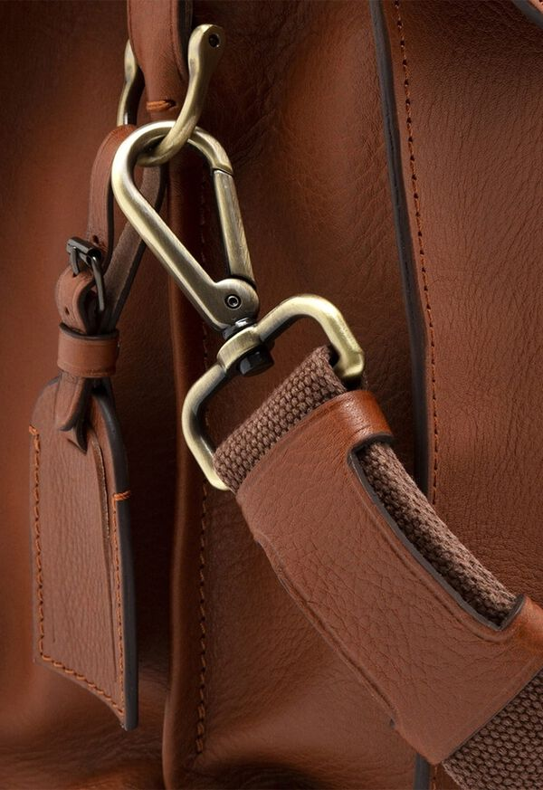 Bridle Leather Briefcase with Shoulder Strap, image 3