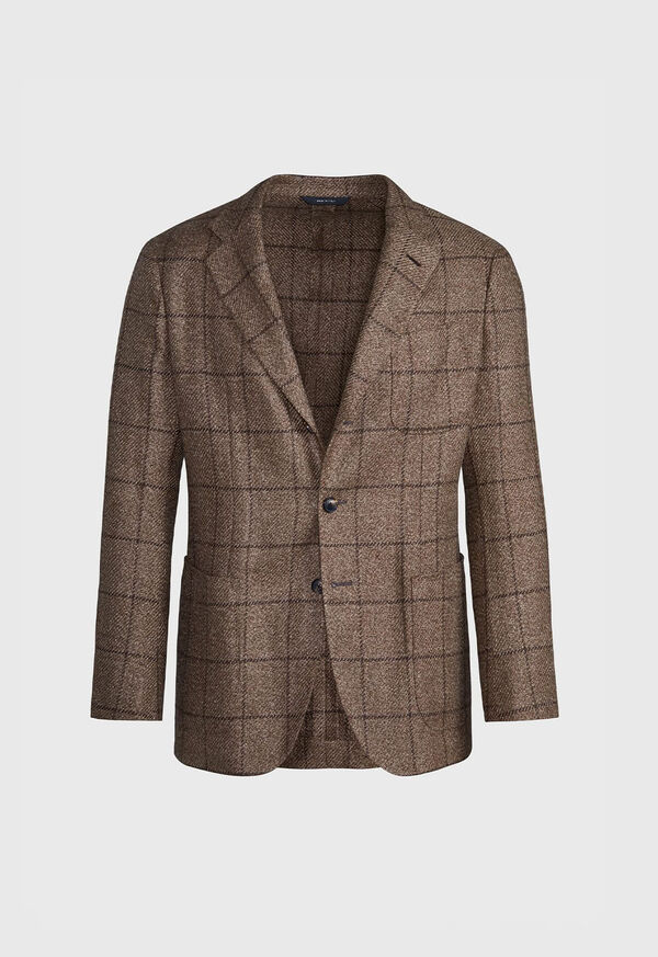 Brown Windowpane Jacket