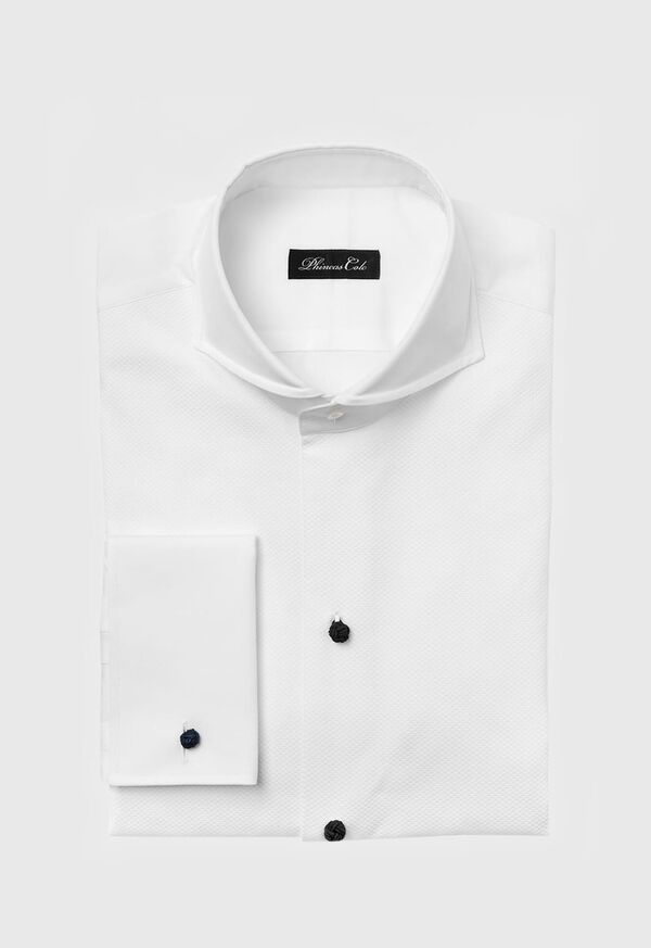 Piqué Bib Front Cotton Formal Shirt, image 1