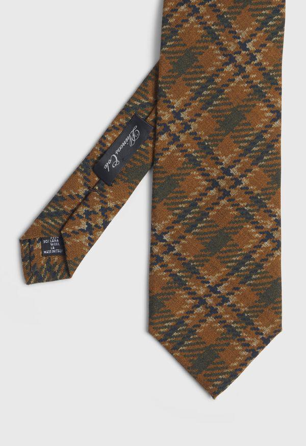 Wool Plaid Tie, image 1