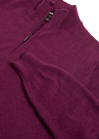 Cashmere Quarter Zip Mock Sweater, thumbnail 2