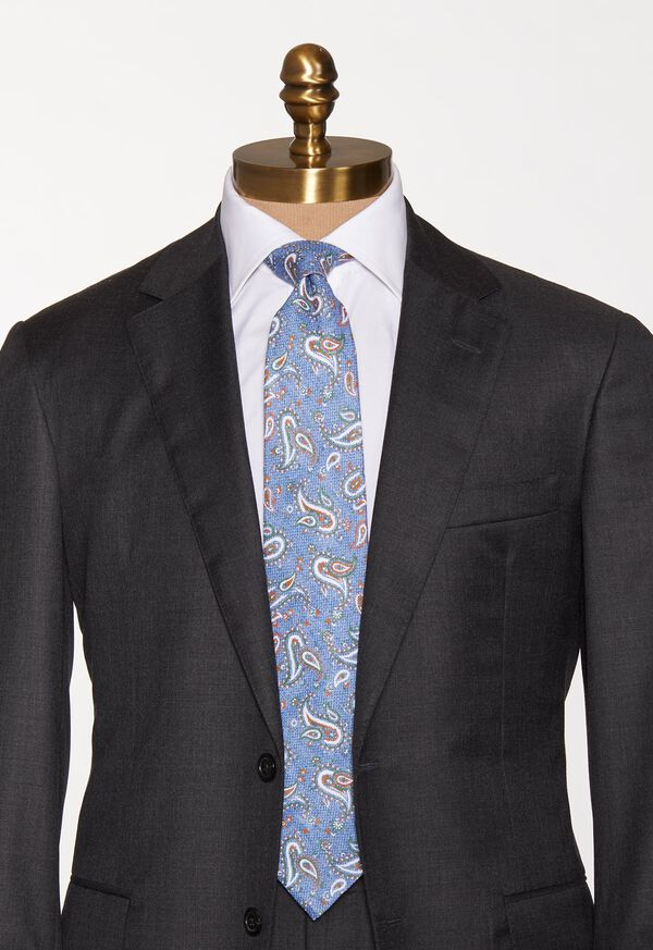 Linen Paisley Tie, image 2