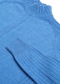 Ribbed-Knit Sleeves Zip Cardigan, thumbnail 2