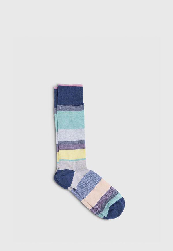 Melange Color Block Crew Sock, image 1