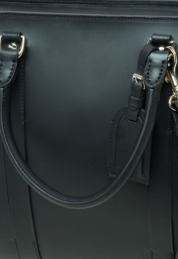 Leather Contrast Stitch Briefcase, image 3