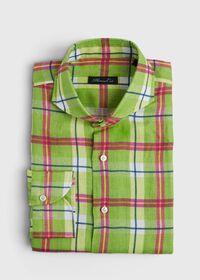 Lime Green Plaid Shirt, thumbnail 1
