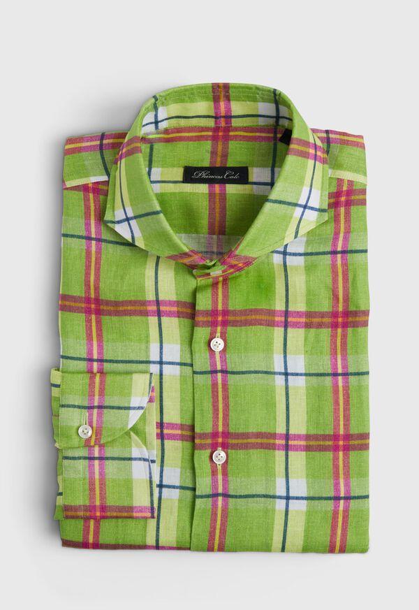 Lime Green Plaid Shirt, image 1