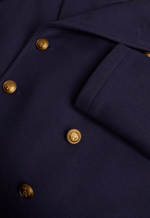 Double Breasted Navy Coat, image 2