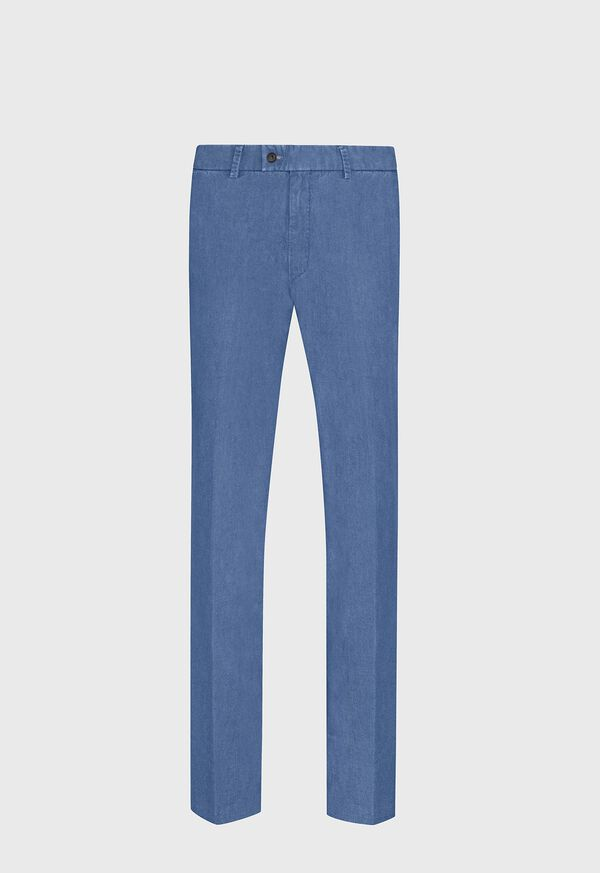 Chambray Cotton Stretch Pant