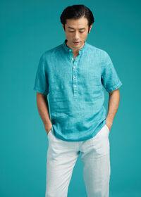 Linen Short Sleeve Popover, thumbnail 2