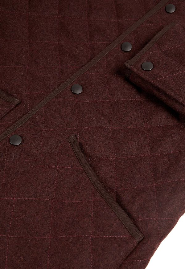 Quilted Loden Barn Jacket with Corduroy Collar, image 4