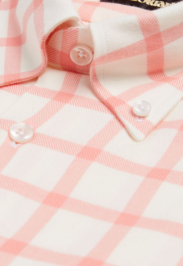 Windowpane Brushed Flannel Sport Shirt, image 2