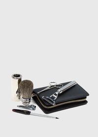 Deerskin Leather Travel Shaving Kit, thumbnail 4