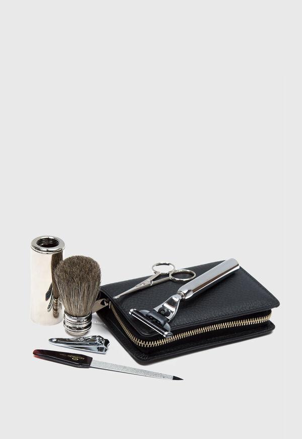 Deerskin Leather Travel Shaving Kit, image 4