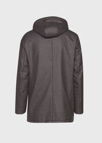 Fur Hooded Parka Coat, thumbnail 2