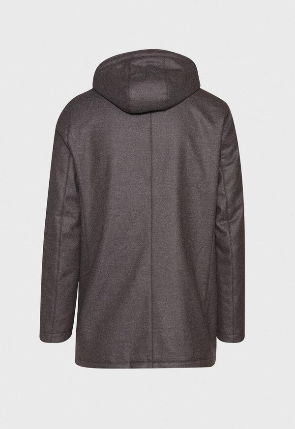 Fur Hooded Parka Coat, image 2
