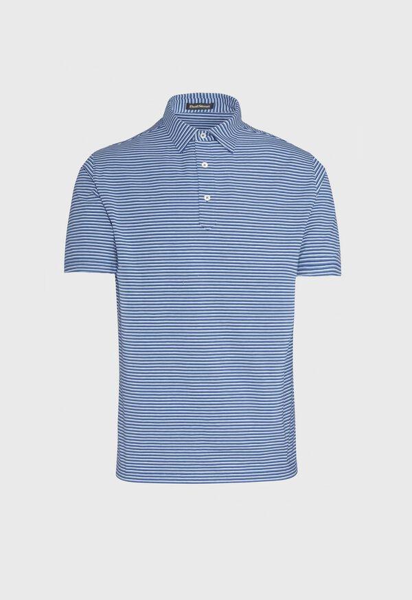 Cotton Blend Stripe Polo, image 1