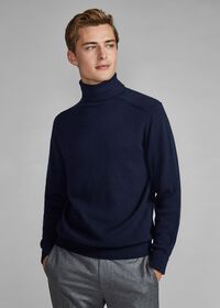 Classic Cashmere Double Ply Turtleneck Sweater, thumbnail 3