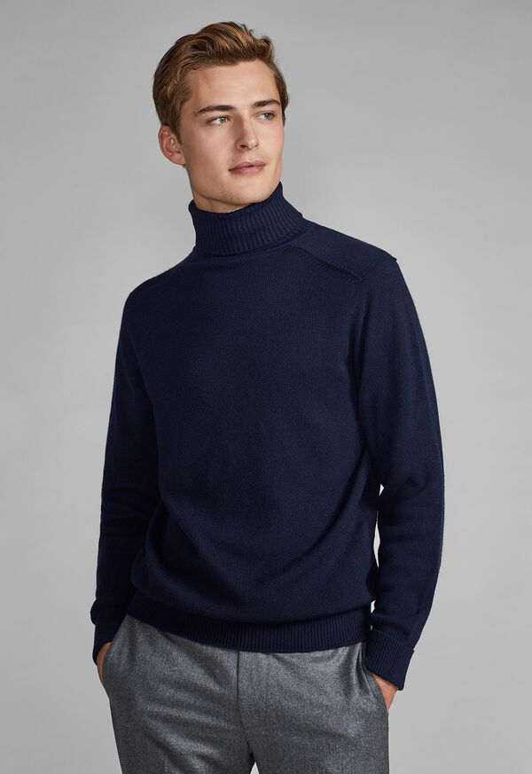 Classic Cashmere Double Ply Turtleneck Sweater, image 3