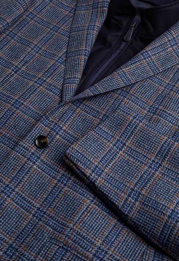 Plaid Travel Jacket and Built-in Vest, image 2