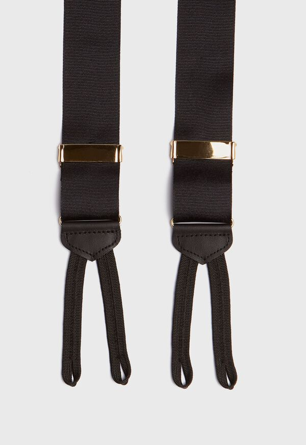 Black grosgrain formal braces, image 2