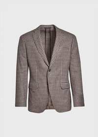 Taupe Houndstooth Sport Jacket, thumbnail 1