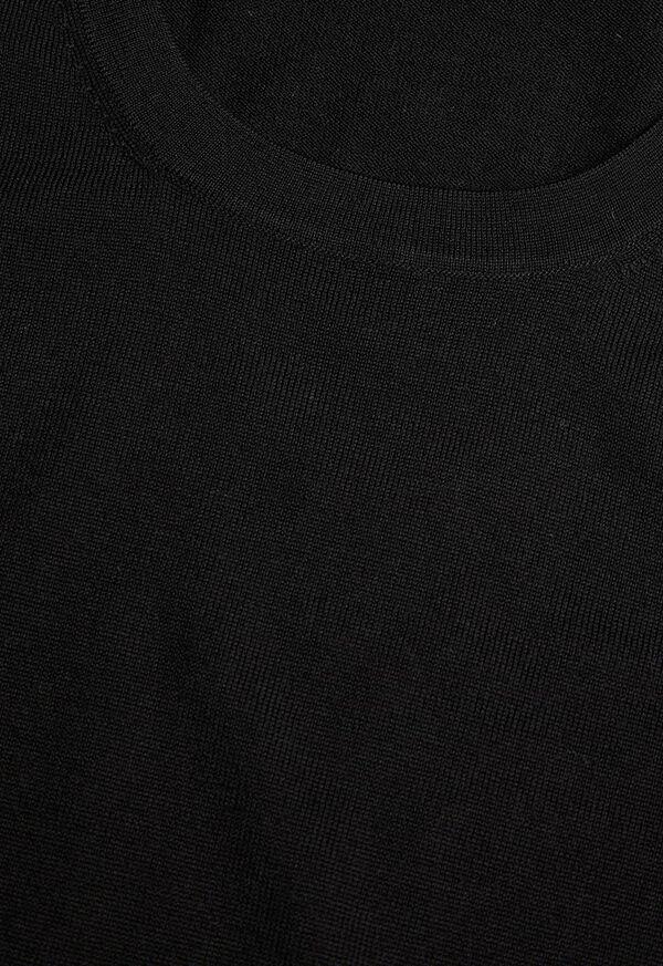Short Sleeve Wool Crewneck Sweater, image 2