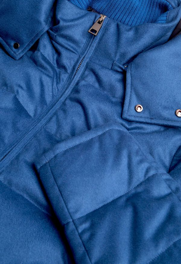 Cashmere Quilted Down Puffer Jacket, image 5