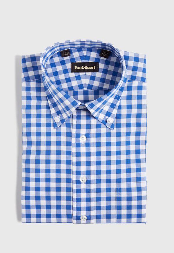 Gingham Cotton Dress Shirt, image 1