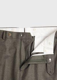 Super 120s Sage Flannel Trouser, thumbnail 4