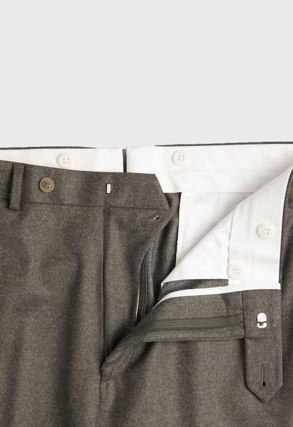 Super 120s Sage Flannel Trouser, image 4