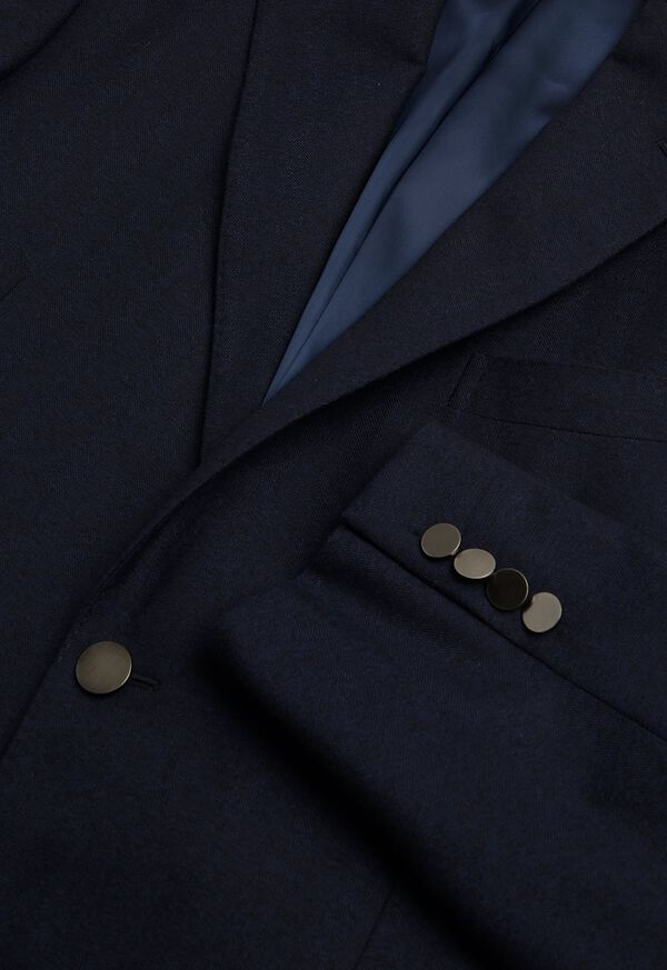 Tonal Navy Wool Sport Jacket, image 3
