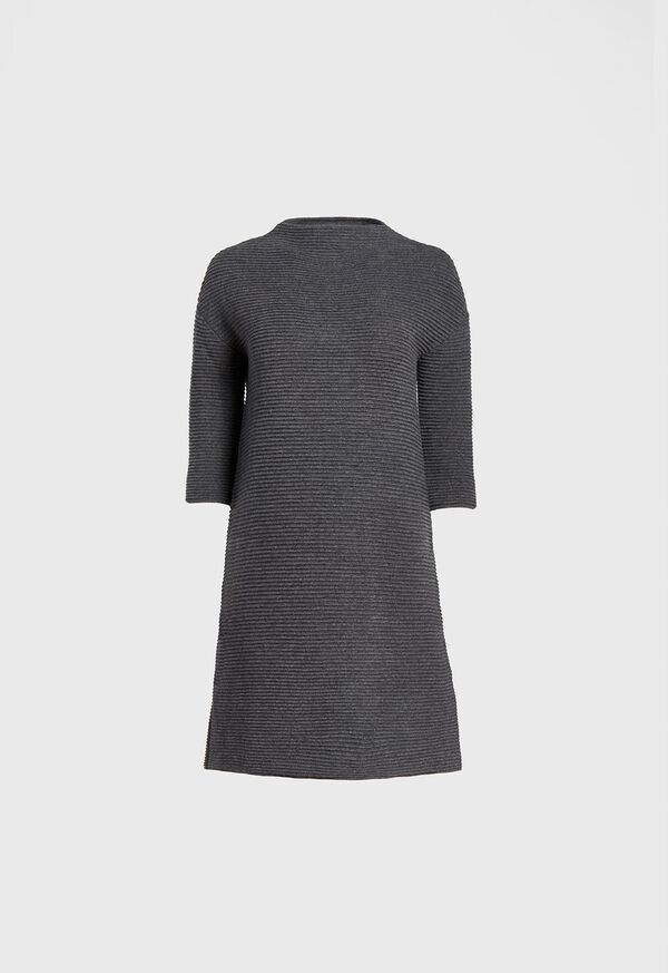 Wool and Cashmere Ribbed Sweater Dress, image 1