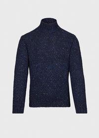 Melange Mock Neck Sweater, thumbnail 1