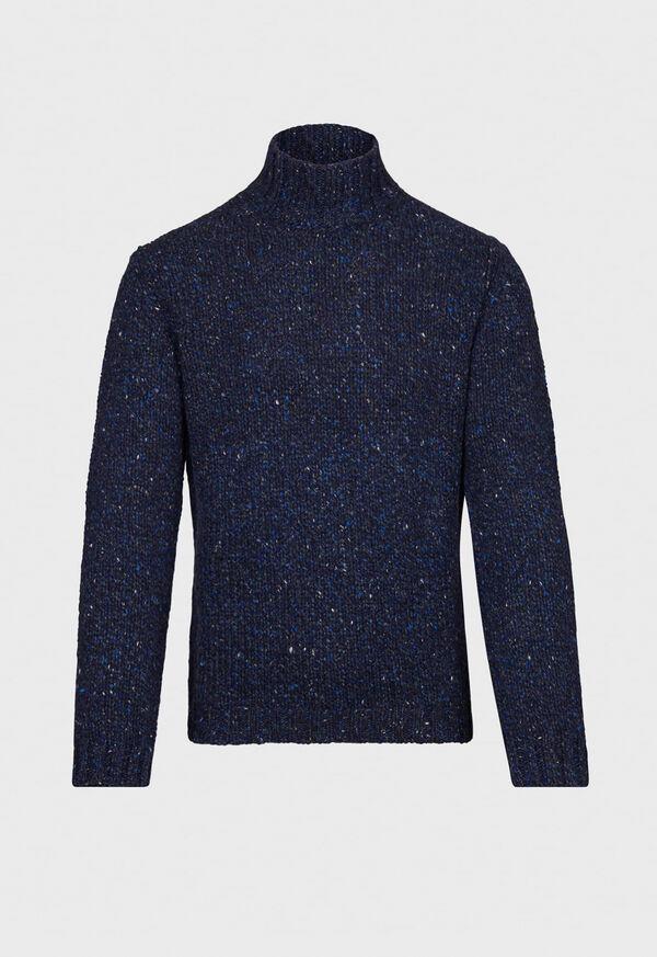 Melange Mock Neck Sweater, image 1