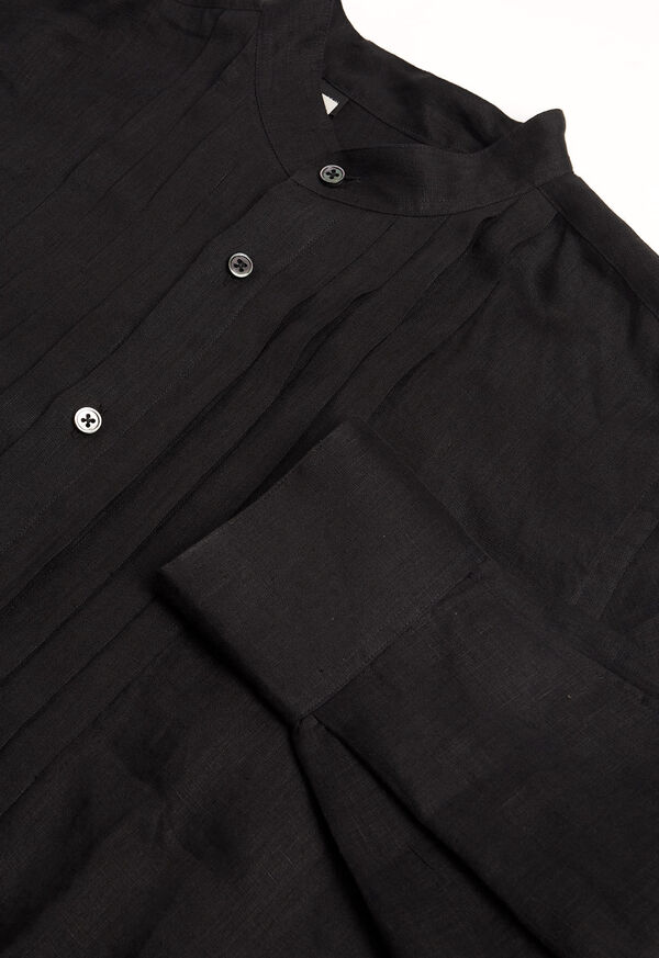 Black Linen Pleated Pull Over Lounge Set, image 7