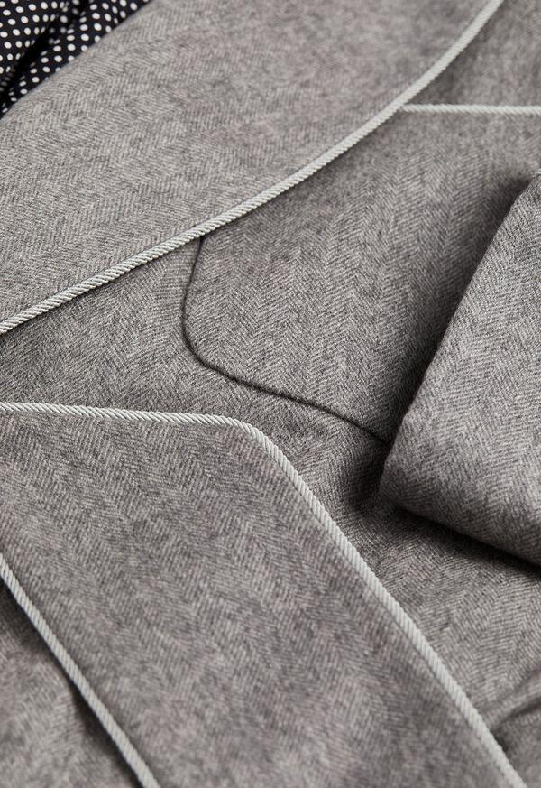 Cashmere Herringbone Robe, image 2