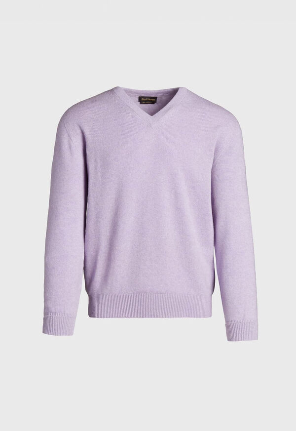 Scottish Cashmere V-Neck Sweater, image 5