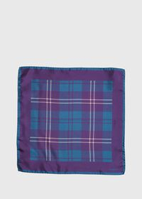 Plaid Pocket Square With Contrast Border, thumbnail 2