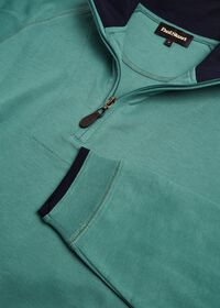 Pima Cotton 1/2 Zip Sweater, thumbnail 2