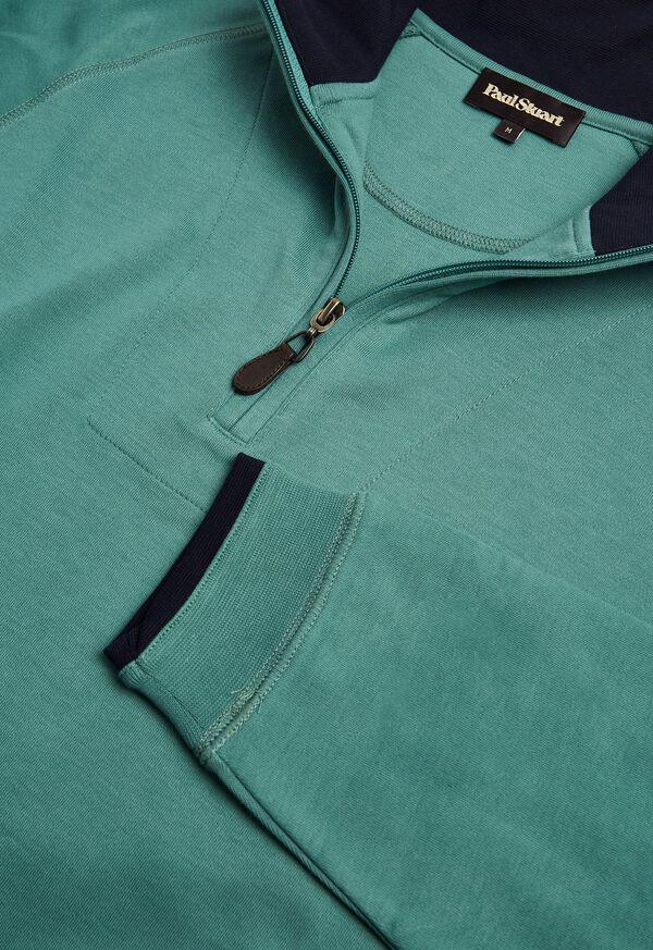 Pima Cotton 1/2 Zip Sweater, image 2