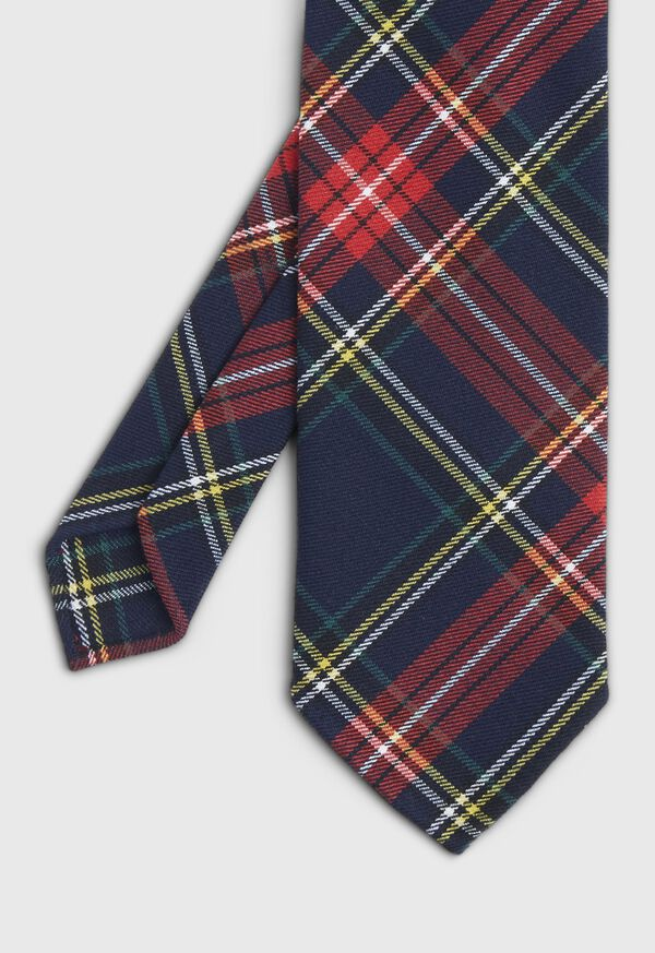 Plaid Unlined Tie, image 1