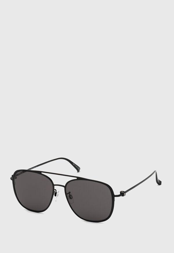 Bally's Shiny Black Metal Sunglasses, image 1