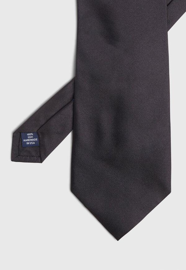 Crest Motif Silk Tie, image 2