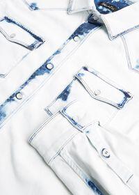 Overdyed White Western Denim Shirt, thumbnail 2