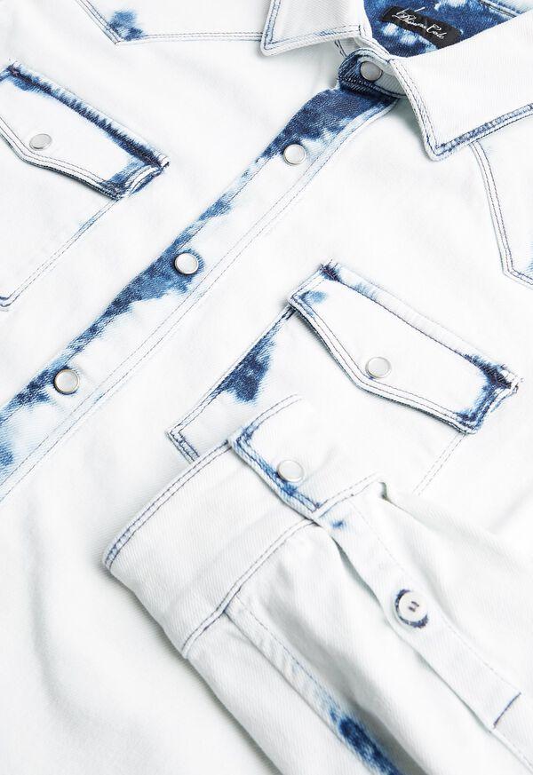 Overdyed White Western Denim Shirt, image 2