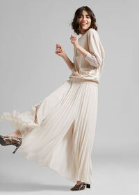 Long Pleated Skirt, thumbnail 3
